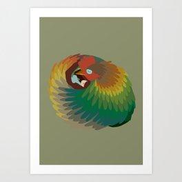 Chicken Dream Art Print