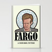 fargo Stationery Cards featuring FARGO - A Coen Bros. Picture by Damn Fine Design