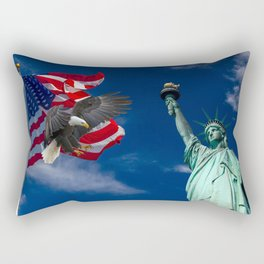 Bald Eagle a Lady Liberty Rectangular Pillow