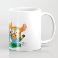 minions Mugs featuring Minion Mice by Kiome-Yasha