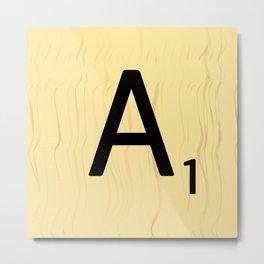 Scrabble A Decor, Scrabble Art Prints, Large Scrabble Prints, Word Wall Art, Home Decor, Wall Decor Metal Print