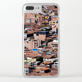 Rooftops of Peru Clear iPhone Case
