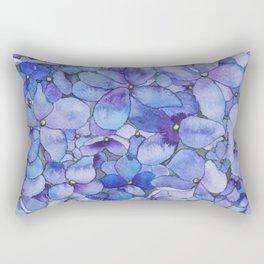 Watercolour Hydrangea Rectangular Pillow