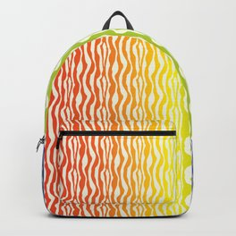 Rainbow Zebra Pattern Print Backpack