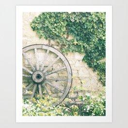 italian garden old and new Art Print