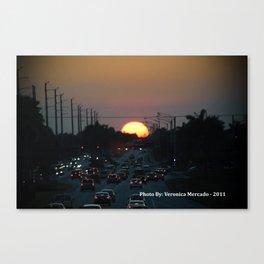 Hmm Beautiful Sunsetting  Canvas Print