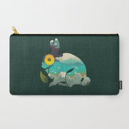 Rabbit Sky - (Forest Green) Carry-All Pouch