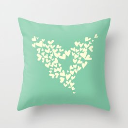 Heart In Hearts. Clouds in the hearts Throw Pillow