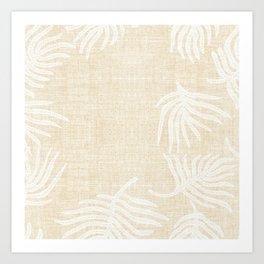 PALM LINEN Art Print