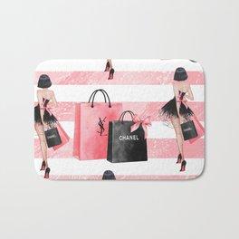 Fashion girl shopping Bath Mat