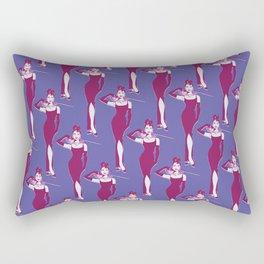Audrey Hepburn pop art purple pattern Rectangular Pillow