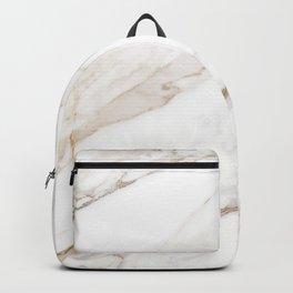 Cream White Marble Backpack