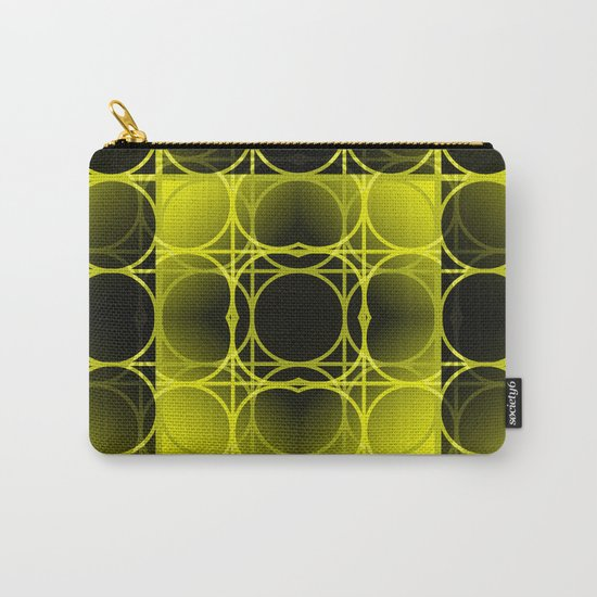 Circles, Grids and Shadows in Black and Yellow Carry-All Pouch