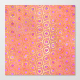 Golden Pink Pattern Canvas Print
