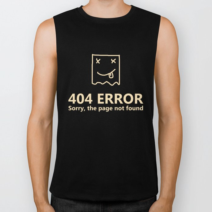 404 Error Sorry, The Page Not Found Gift Biker Tank