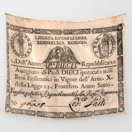 Assegnato da 10 paoli, emesso nell'anno 7. repubblicano (1798) Wall Tapestry
