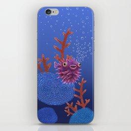 Balloon fish iPhone Skin