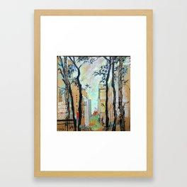 The Art Institute Gardens, Chicago Framed Art Print