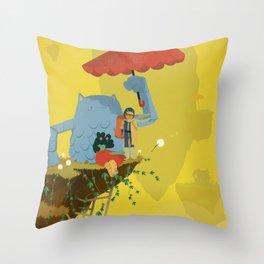 Matilda and Bouru - Melancholy Throw Pillow