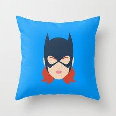 Batgirl Minimalist Design Throw Pillow