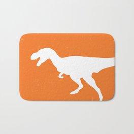 T-rex Orange Dinosaur Bath Mat