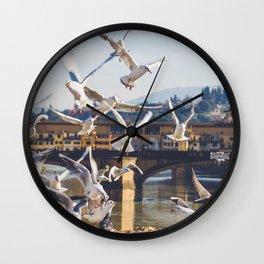 Seagulls Attack!! Wall Clock
