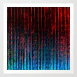 Syntax (Red + Blue) Art Print