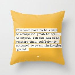 Edmund Hillary quote Throw Pillow