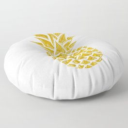 Gold Pineapple Floor Pillow