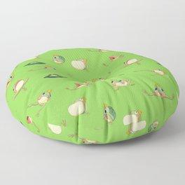 FROOOOOOOOOOOOWG PATTERN far apart pale green Floor Pillow