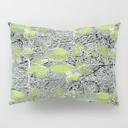 Leaves with black and white outlines and branches Pillow Sham