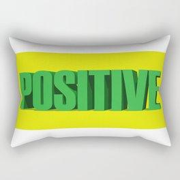 Positive, Positive Quote, Positivity, Positive Mindset, Be Positive, 3D Quote Rectangular Pillow