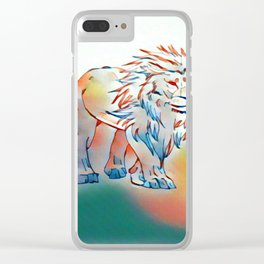Lion of light Clear iPhone Case