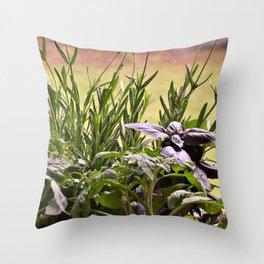 Herbal Garden Delight Throw Pillow