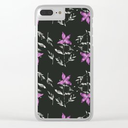 Clematis Clear iPhone Case