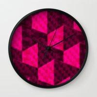 hexagon Wall Clocks featuring HEXAGON by xalomako
