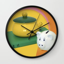 Pig and a Teapot Vintage Still Life Wall Clock