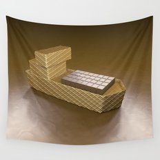 Chocolate Ship - 3D Art Wall Tapestry