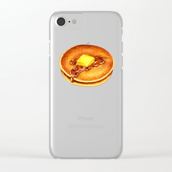 Pancakes Pattern Clear iPhone Case