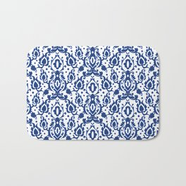 Blue and White Casbah Damask Bath Mat