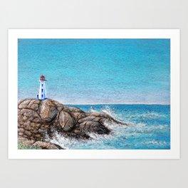 Peggy's Cove Art Print