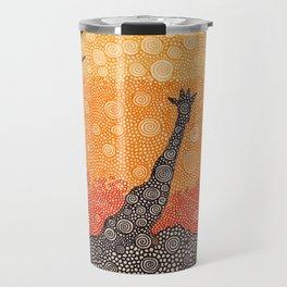 Giraffe In The Bush Travel Mug