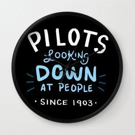 Aerospace Engineer Gift: Pilots Looking Down On People Wall Clock