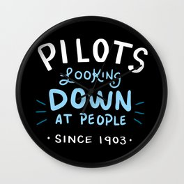 Aerospace Engineer Gift: Pilots Looking Down On People Wall Clock