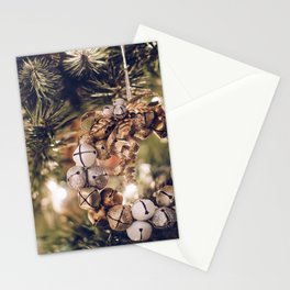 Jingle Bell Wreath on Christmas Tree (Color) Stationery Cards