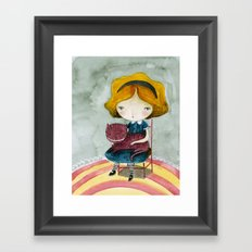 Alice In Watercolorland Framed Art Print