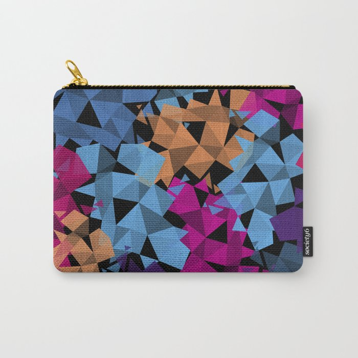 Colorful geometric Shapes Carry-All Pouch