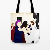 jewish Tote Bags featuring Jewish wedding by Design4u Studio