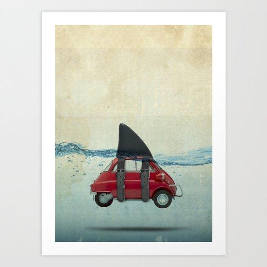 isetta shark Art Print