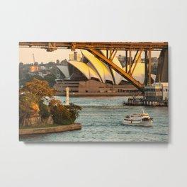 Sydney Opera House & Harbour Bridge Metal Print